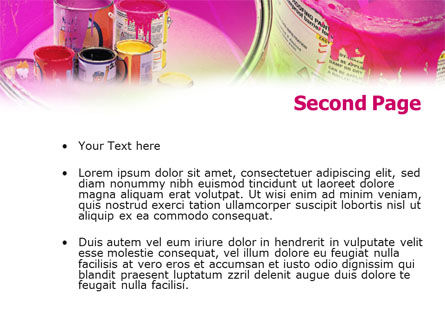 Paint In Cans PowerPoint Template, Slide 2, 00914, Careers/Industry — PoweredTemplate.com