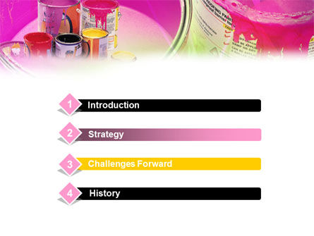 Paint In Cans PowerPoint Template, Slide 3, 00914, Careers/Industry — PoweredTemplate.com