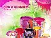 Careers/Industry: Paint In Cans PowerPoint Template #00914