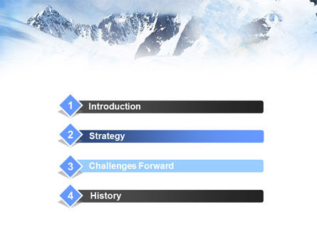 Mountain Snow Caps PowerPoint Template, Slide 3, 00919, Nature & Environment — PoweredTemplate.com