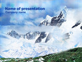 Nature & Environment: Mountain Snow Caps PowerPoint Template #00919