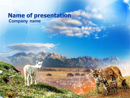 Nature & Environment: Life Of Mammalian Predators PowerPoint Template #00920