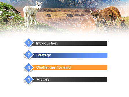 Life Of Mammalian Predators PowerPoint Template Slide 3