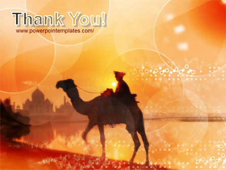 Camel Riding PowerPoint Template Slide 20