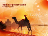 Nature & Environment: Camel Riding PowerPoint Template #00922
