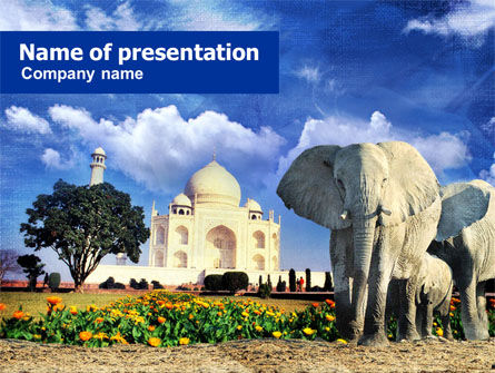 India PowerPoint Template, 00923, Flags/International — PoweredTemplate.com