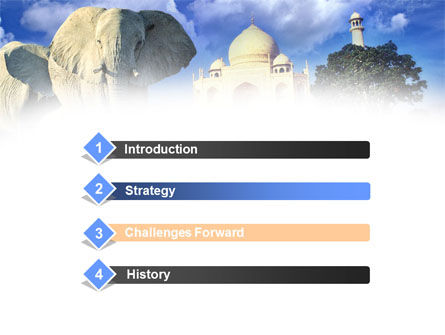 India PowerPoint Template, Slide 3, 00923, Flags/International — PoweredTemplate.com