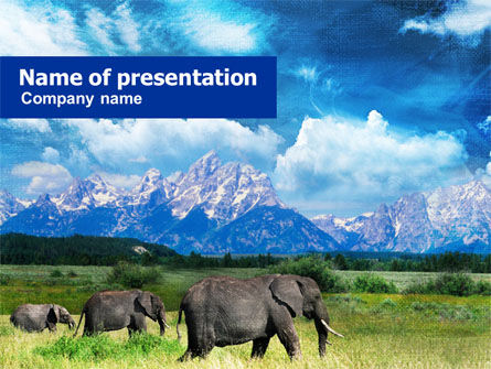 Nature & Environment: Plains Of Kilimanjaro National Park PowerPoint Template #00924