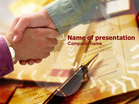 Signing Agreement PowerPoint Template, 00925, Business — PoweredTemplate.com