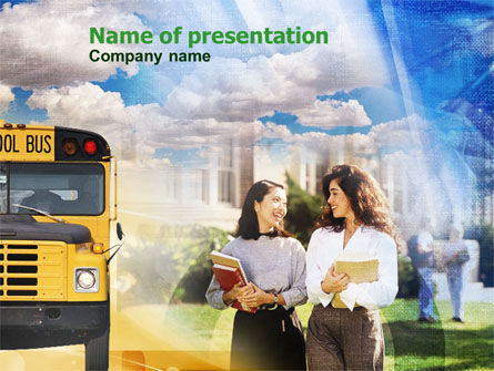 Education & Training: School Students PowerPoint Template #00926