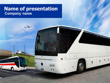 Charter Bus PowerPoint Template, 00927, Cars and Transportation — PoweredTemplate.com