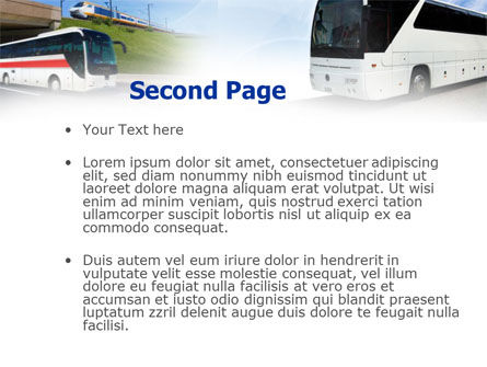 Charter Bus PowerPoint Template, Slide 2, 00927, Cars and Transportation — PoweredTemplate.com
