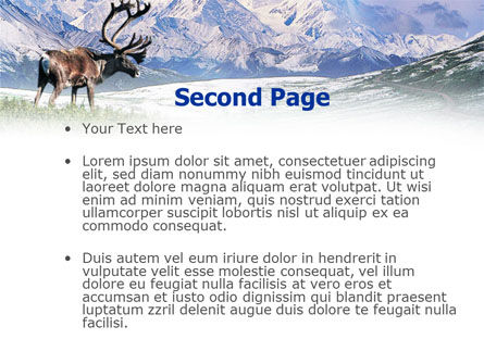 Alaska Elk PowerPoint Template, Slide 2, 00928, Animals and Pets — PoweredTemplate.com