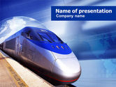 Cars and Transportation: Bullet Train PowerPoint Template #00929