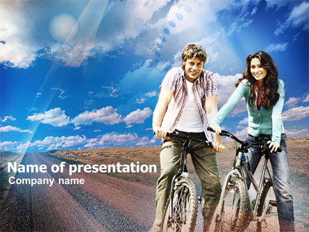 Sports: Road Bikes PowerPoint Template #00930