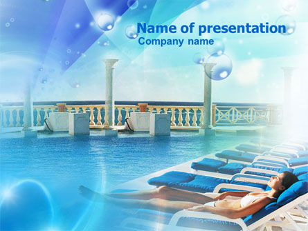 Near the Pool PowerPoint Template, 00933, Medical — PoweredTemplate.com