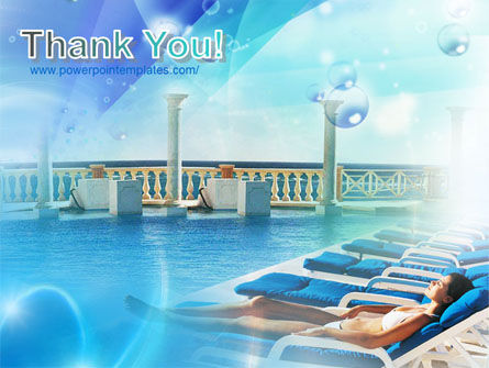 Near The Pool Powerpoint Template Backgrounds 00933