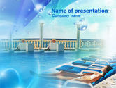 Medical: Modello PowerPoint - Vicino alla piscina #00933