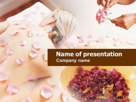 Health and Recreation: Aromatherapy PowerPoint Template #00936