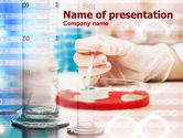 Medical: Bacterial Analysis PowerPoint Template #00940