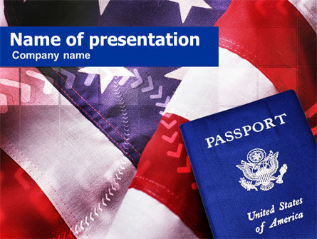 American Passport PowerPoint Template