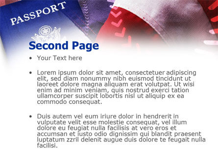 American Passport PowerPoint Template Slide 2