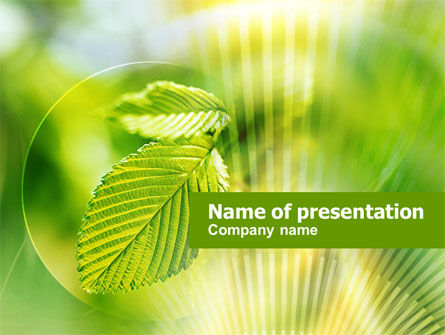 Green Leaf PowerPoint Template, 00944, Nature & Environment — PoweredTemplate.com