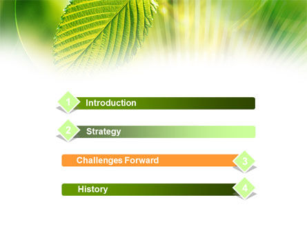 Green Leaf PowerPoint Template, Slide 3, 00944, Nature & Environment — PoweredTemplate.com