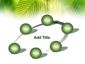 Green Leaf PowerPoint Template#14