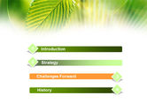 Green Leaf PowerPoint Template#3