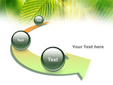 Green Leaf PowerPoint Template#6