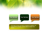 Green Leaf PowerPoint Template#9