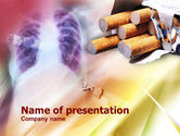 Medical: Smoking PowerPoint Template #00945