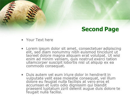 Baseball Catch PowerPoint Template Slide 2