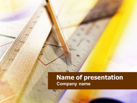 Rulers and Pencil PowerPoint Template