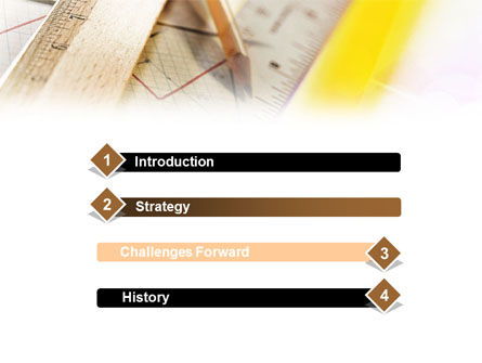 Rulers and Pencil PowerPoint Template Slide 3