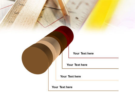 Rulers and Pencil PowerPoint Template Slide 7