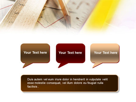 Rulers and Pencil PowerPoint Template Slide 9