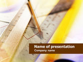 Education & Training: Rulers and Pencil PowerPoint Template #00950