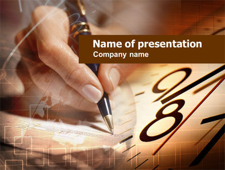 Business: Business Time Planning PowerPoint Template #00951