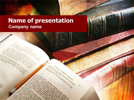 Book Reading PowerPoint Template, 00952, Education & Training — PoweredTemplate.com