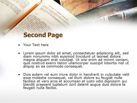 Book Reading PowerPoint Template, Slide 2, 00952, Education & Training — PoweredTemplate.com