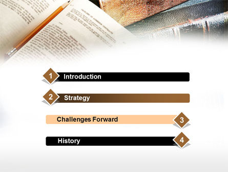 Book Reading PowerPoint Template, Slide 3, 00952, Education & Training — PoweredTemplate.com