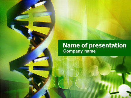 Double Helix PowerPoint Template, 00953, Technology and Science — PoweredTemplate.com