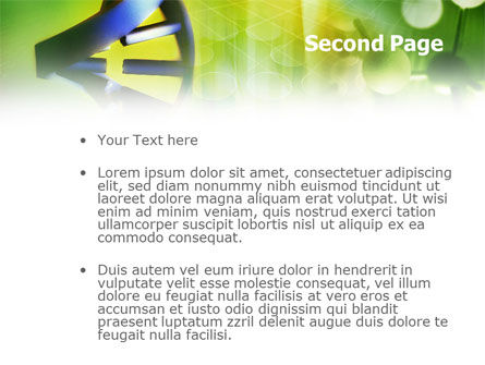 Double Helix PowerPoint Template, Slide 2, 00953, Technology and Science — PoweredTemplate.com