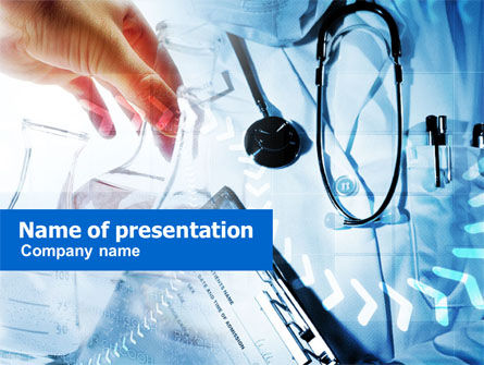 Medical: Plantilla de PowerPoint - examen medico #00954