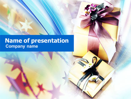 Holiday/Special Occasion: Gifts PowerPoint Template #00955