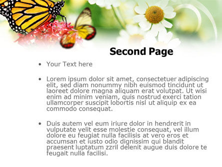 Machaon Butterfly PowerPoint Template Slide 2
