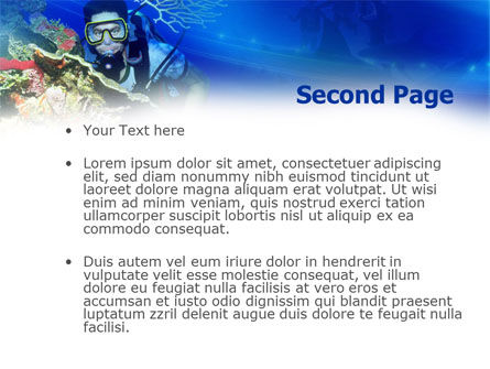 Underwater Diving PowerPoint Template, Slide 2, 00957, Nature & Environment — PoweredTemplate.com