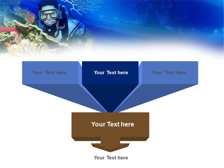 Underwater Diving PowerPoint Template, Slide 3, 00957, Nature & Environment — PoweredTemplate.com